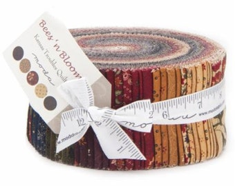 Bees 'n Blooms Jelly Roll by Kansas Troubles Quilters for Moda