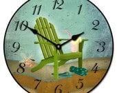 Summertime Beach Wall Clock