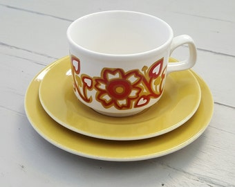 3pc STAFFORDSHIRE Teacup Saucer Side Plate