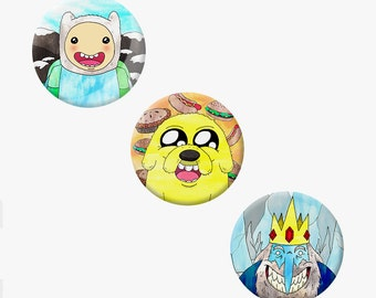Adventure Time Badge Set