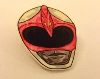 Pink Power Ranger Helmet Brooch