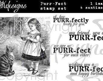 Purr-Fect Digital Stamp Set