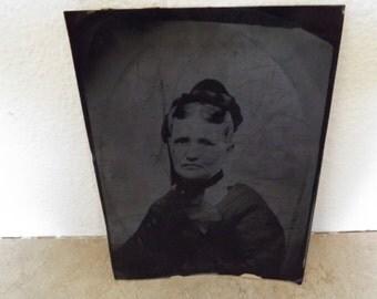Antique Large Tin Photo