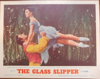 "Original vintage movie lobby card poster ""The Glass Slipper"""