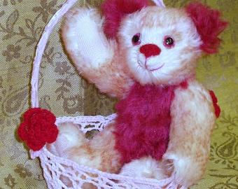 "OOAK Mohair Bear - ""Cranberry"""