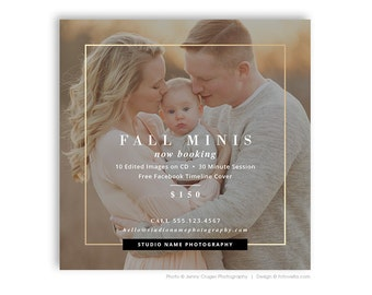 Fall Mini Session Marketing Template - Photography Digital Marketing Board - MODERN MINIS 1 - 1562
