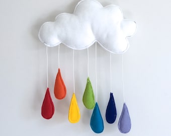 Rainbow Raincloud Mobile
