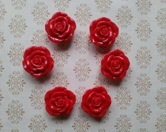 Rose Magnets - Red Rose Magnets - Decorative Magnets - Roses - Whiteboard Magnets - Creative Magnets - Office Supplies - Refrigerator