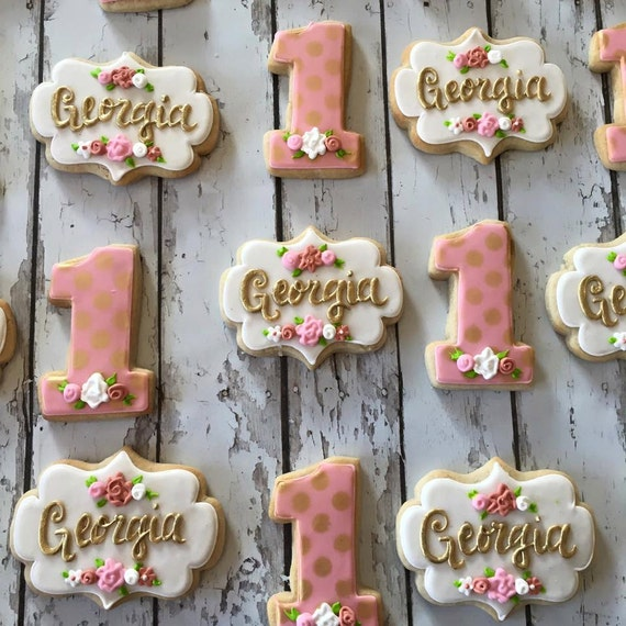 Items Similar To Rose Gold Georgia Cookies On Etsy