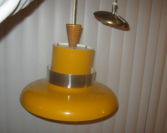 Mid Century Lightolier POP ART Hanging Light Fixture