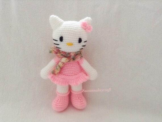 Amigurumi Kitty Mini : Kitty amigurumi pattern by suwannacraftshop on Etsy