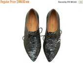 LAST SIZES SALE Lara shoes, Black corn, handmade,Hand Printed, flats, leather shoes, by Tamar Shalem on etsy