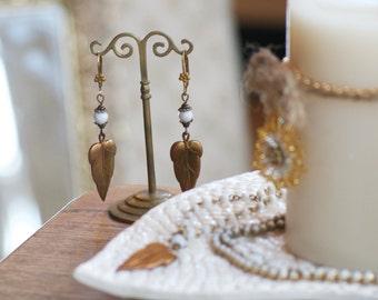 Forest Brass Leaf Earrings