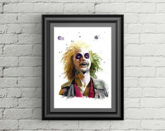 Beetlejuice / limited edition giclee print / size A3