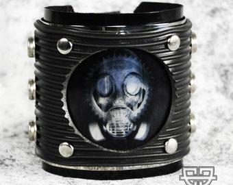 Rivethead Gothic Industrial Cyberpunk Raver Festival Cuff