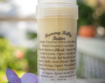 Mommy belly butter, organic, FREE LIP BALM with purchase! expecting mom gift, Pregnancy Stretch Mark Balm, Shower gift, Anti Itch, skin care