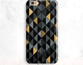 iPhone 6S Case, Black and Gold iPhone 7 Case, iPhone SE Case, Geometric iPhone 6 Plus, iPhone 5S Case, Gold iPhone 7 Case, iPhone 5 case