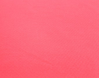 Hot Pink Neon Crepe Techno Knit Fabric