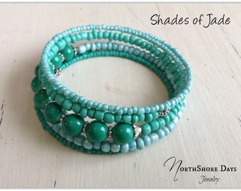 Shades of Jade- A Bracelet
