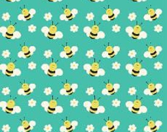 Fabric Freedom  - Camping - Bees Fabric - 100% Cotton