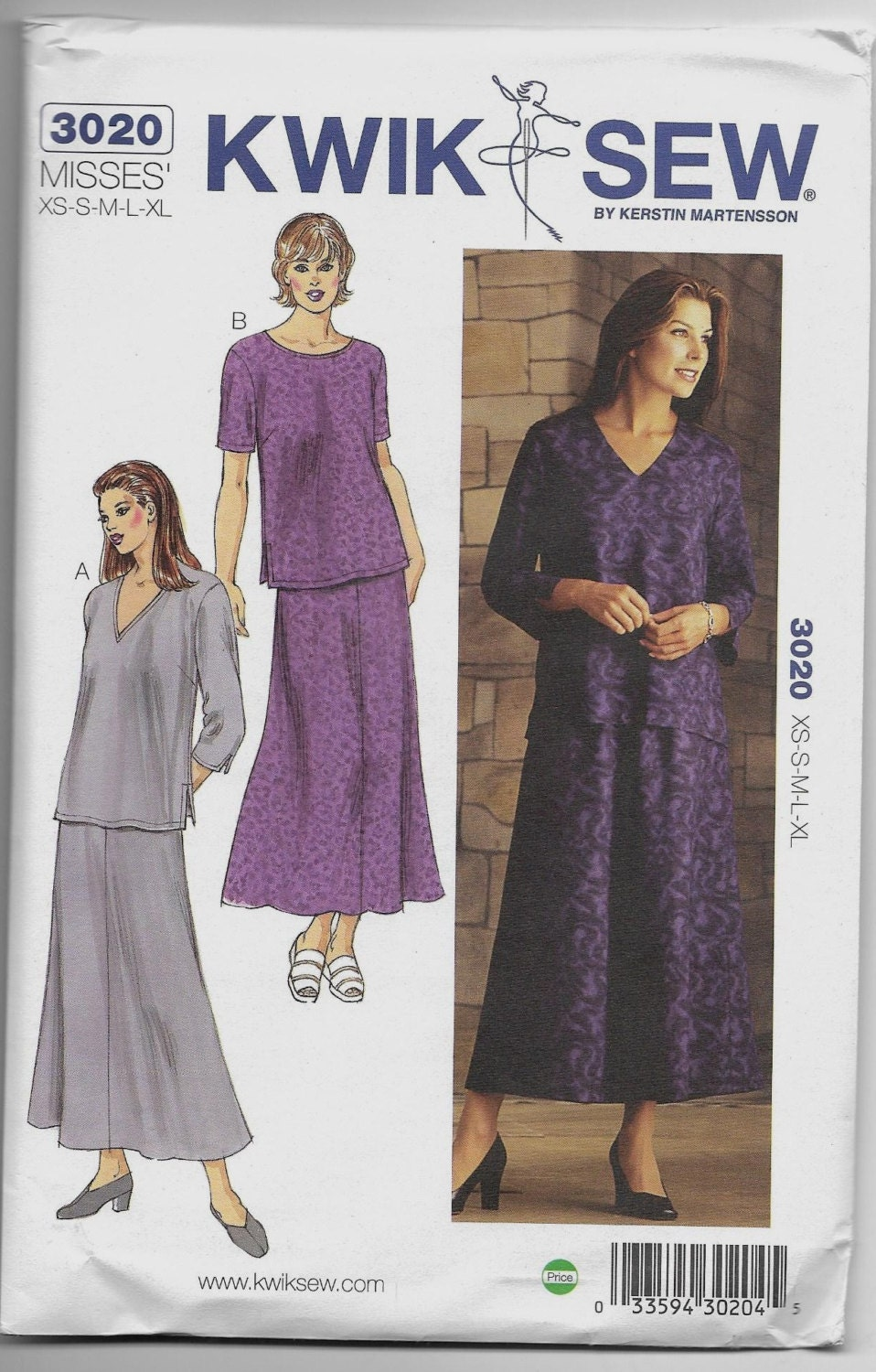 3020 kwik sew tops and skirt sewing pattern sizes xs s m l xl from sold by jlgssewingpatterns jeuxipadfo Gallery