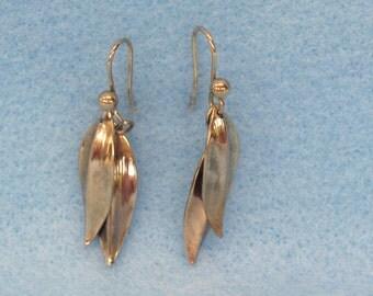 On SALE  Feather Earrings Gold Feather Earrings Wire Feather Earrings Southwestern Jewelry Native American