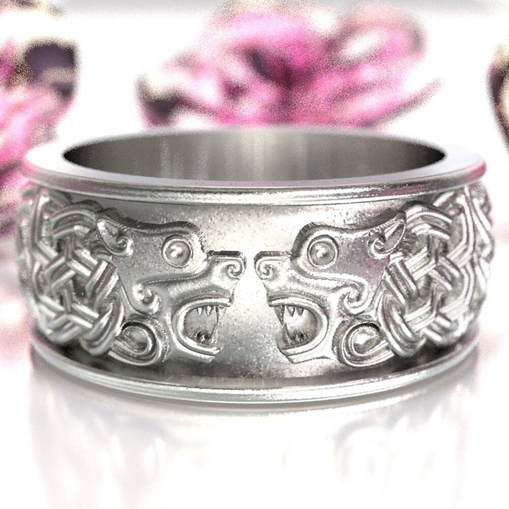 Celtic Hound Ring Celtic Dog Wedding Band Hound By
