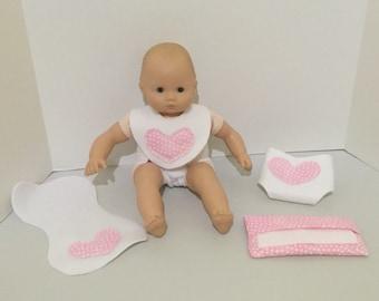 Doll Accessories, Doll Diaper, Doll Bib