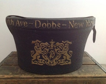 Vintage DOBBS Fifth ave New York 1900s Hat Box ~ VERY RARE ~ Antique Early 1900s ~ Dobbs fifth avenue  - Top hat box