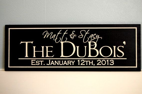 Wedding Gift Name Sign : Sign, Wedding Gift, Bridal Shower Present, Custom Couples Name ...