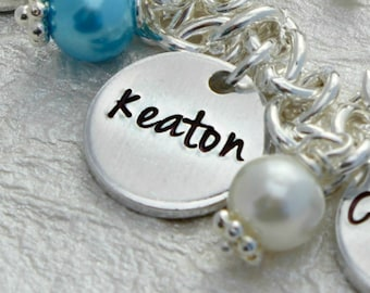 Single Stamped Charm - Extra Charm add on to your Charm Bracelet - Add a Charm - Single Charm - gift for her - Small Pendant