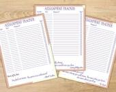 Assignment Tracker    Homework Tracker    Academic Planner    School Planner    Instant Download PDF    Peaches & Cream