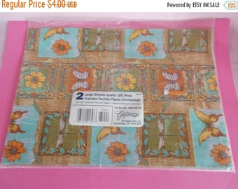sale Vintage Butterfly Gift Wrap