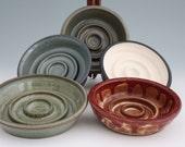Dog Food SLOW FEEDER LARGE Bowl Extends Mealtime - Reduces Bloating - Unique Pet Bowl Design Ceramic Stoneware Handmade Assorted Colors