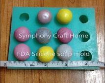 mold,Melon silicone mold, ball mold, silicone embeds mold, fruit mold, fondant mold, silicone soap mold, DIY, 3D ball mold