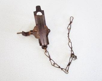 Animal Trap Antique Vintage Rustic Decor Accent Working Trap