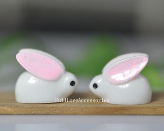10pcs Resin Rabbit, 17x22mm Resin Rabbit Charms, Resin Rabbit Charms Beads, can make bobby pin