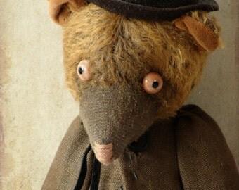 "OOAK  Artist teddy bear , handmade teddy bear ""Alex """