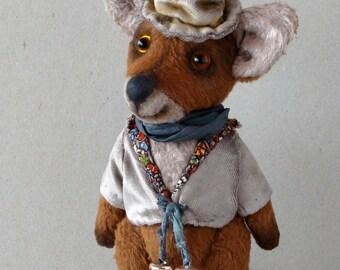 "Artist teddy  fox OOAK, handmade fox  ""Albert"""