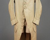 RESERVED for ANTHONY Hamilton Late 18th Century Man's Frock Coat. 1770s-1790s Civilian Jacket