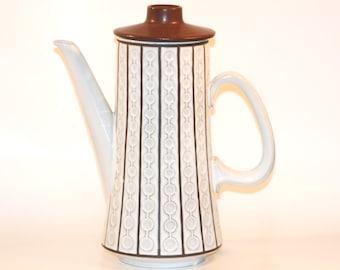 "Cold War-era West German Ceramano ""Omega"" coffee or hot chocolate pot"