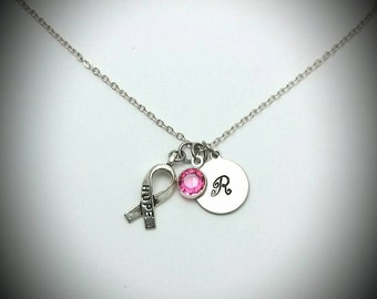 Breast cancer awareness necklace,Breast cancer jewelry,Hope for breast cancer,Breast cancer survivor,Pink cancer awareness,Breast cancer