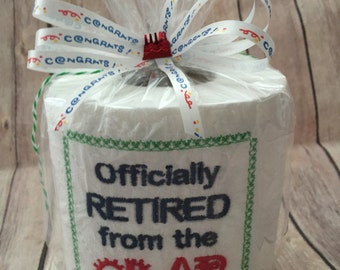 Retirement Gift, Office Retirement, Gag Gift, Fun retirement gift, Custom retirement gift, Work retirement gift, Unique retirement gift