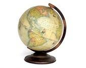 World Globe - Vintage Globe Rand McNally Indexed Terrestrial Art Globe Post Munich Pre WW II - 1930s Globe Decor - Office Library Decor