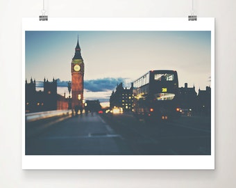 london photograph big ben photograph london bus photograph westminster photograph london print houses of parliament travel photography