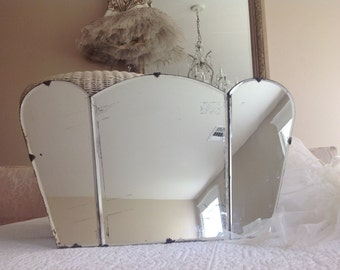 Antique Art Deco shabby Paris apartment mirror