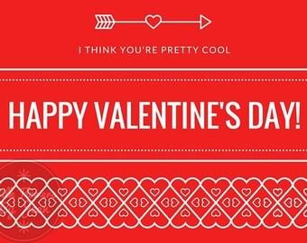 Valentines day card Printable Happy Valentines Day, valentine's day card, valentines card valentines card him valentines card her Printable