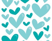 Bella Blvd - Illustrated Faith - Enamel Hearts - Oh My Heavens Mix - 35 pieces - 1277