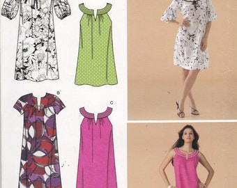Simplicity 0623 Vintage Pattern Womens Sun Dress or Tunic Dress in 4 Variations Size 8,10,12,14, 16 UNCUT