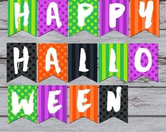 Halloween Party Printable, Halloween Decorations, Halloween Party Decor, Kids Halloween, Instant Download,Halloween banner, boo, pumpkin,